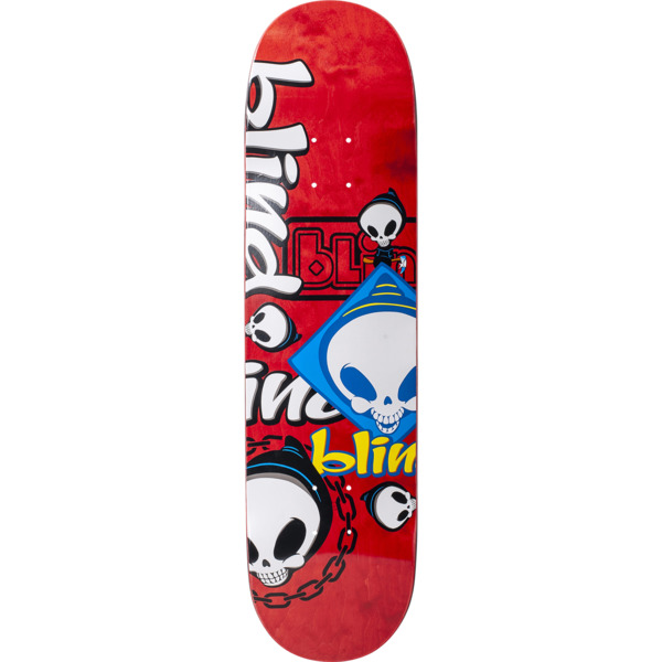 "Blind Skateboards Random Placement Red Skateboard Deck - 8.25"" x 31.9"""