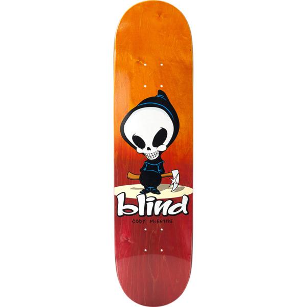"Blind Skateboards Cody McEntire Mid Reaper Orange / Red Skateboard Deck - 8"" x 31.7"""