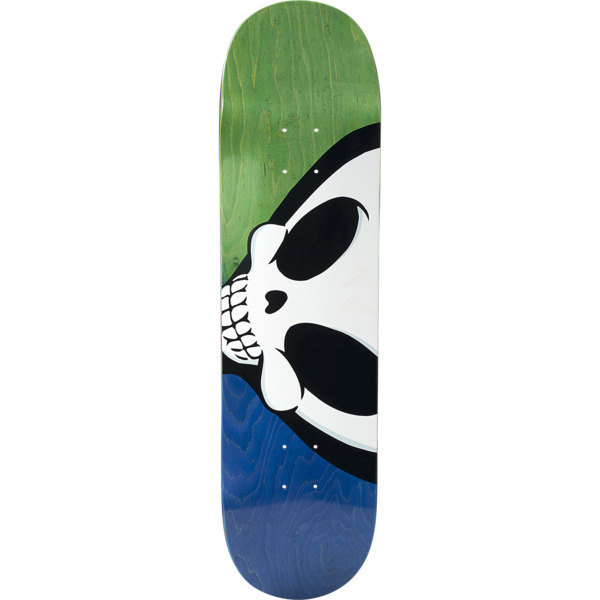 "Blind Skateboards TJ Rogers Sideways Reaper Blue / Green Skateboard Deck - 8.375"" x 31.9"""