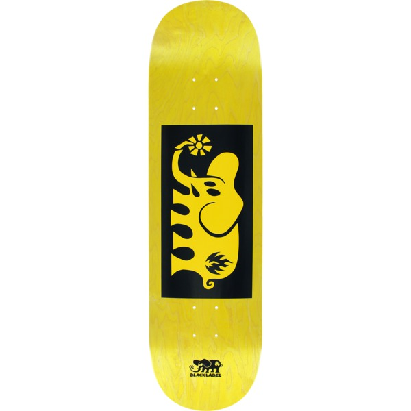 "Black Label Skateboards Elephant Block Yellow Stain / Black / Yellow Skateboard Deck - 8.5"" x 32.38"""