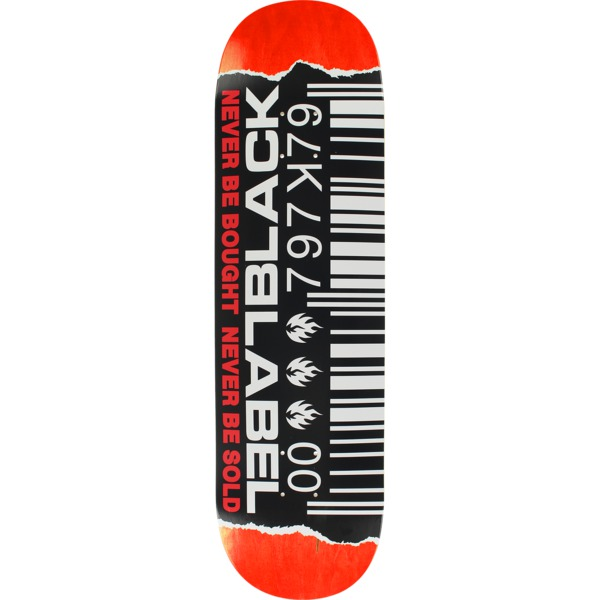 "Black Label Skateboards Ripped Barcode Assorted Color Skateboard Deck - 8.88"" x 32.8"""