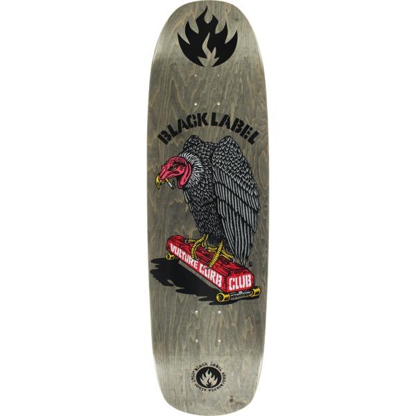 "Black Label Skateboards Vulture Curb Club Grey Stain Skateboard Deck - 8.88"" x 32.25"""