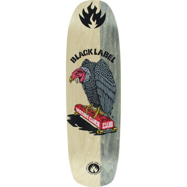 """Black Label Skateboards Vulture Curb Club Natural / Grey Split Skateboard Deck - 8.88"""" x 32.25"""""""