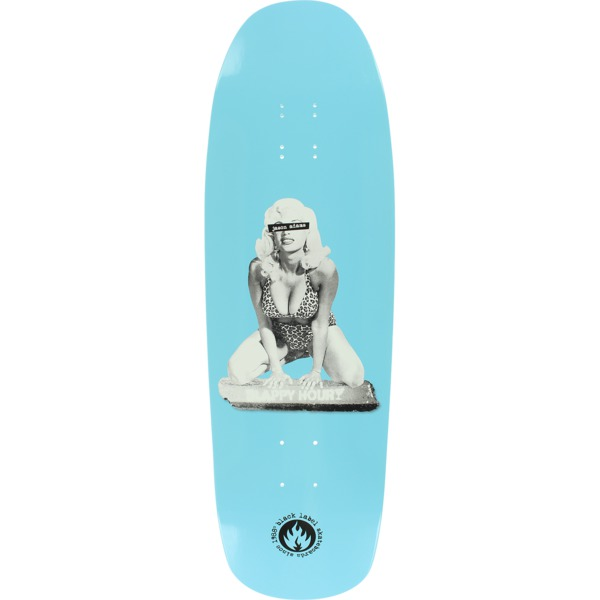 "Black Label Skateboards Jason Adams Slappy Hour Curb Girl Blue Skateboard Deck - 9.63"" x 32"""