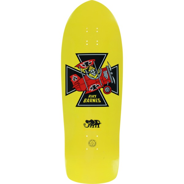 "Black Label Skateboards Riky Barnes Red Baron Yellow Dip Skateboard Deck - 10.25"" x 31.5"""