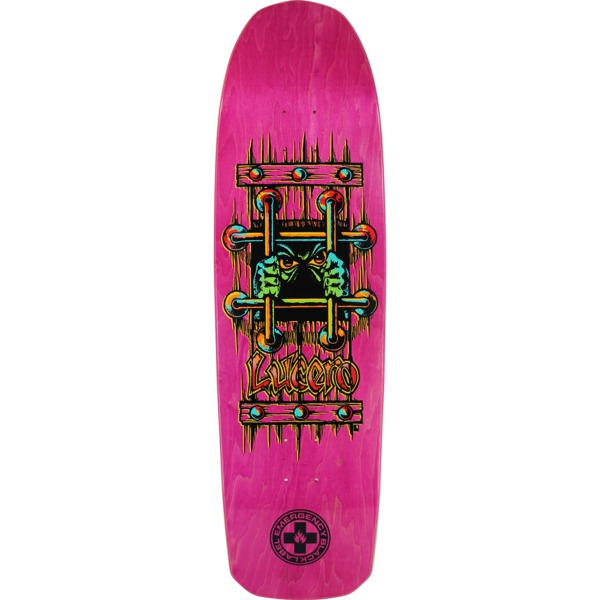 "Black Label Skateboards John Lucero OG Bars Pink Stain Skateboard Deck - 9.25"" x 33.25"""
