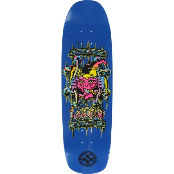 "Black Label Skateboards John Lucero X2 Blue Dip Skateboard Deck - 8.88"" x 32.25"""