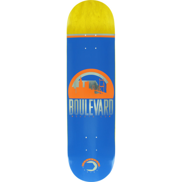 "Boulevard Traveler Blue Skateboard Deck - 7.7"" x 31.875"""