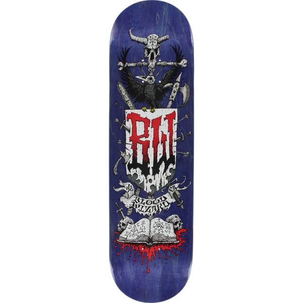 "Blood Wizard Skateboards Battle Navy Stain Skateboard Deck - 8.37"" x 32"""