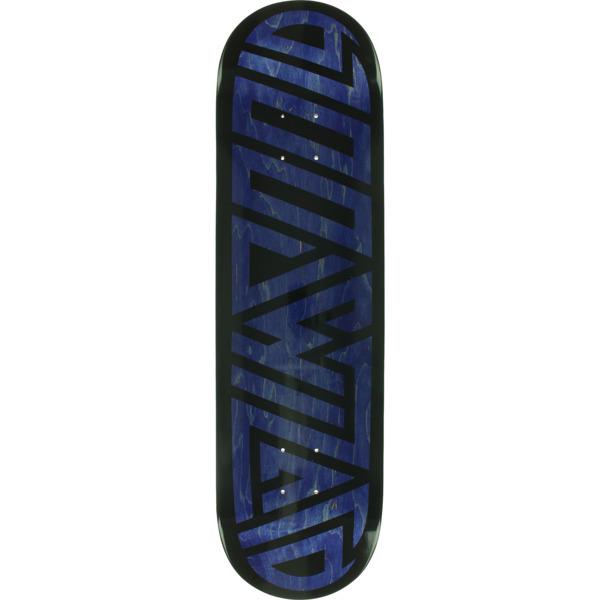 "Blood Wizard Skateboards Future Wasteland Navy / Black Skateboard Deck - 8.37"" x 31.63"""