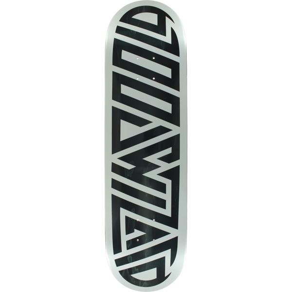 "Blood Wizard Skateboards Future Wasteland Black / Silver Skateboard Deck - 8.5"" x 32"""