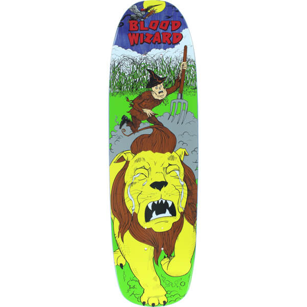 "Blood Wizard Skateboards OZ Scarecrow Gauntlet Skateboard Deck - 8.88"" x 32.12"""