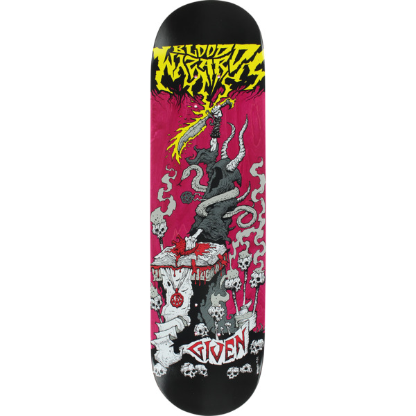 "Blood Wizard Skateboards Given Battle Pink Stain Skateboard Deck - 8.25"" x 31.625"""