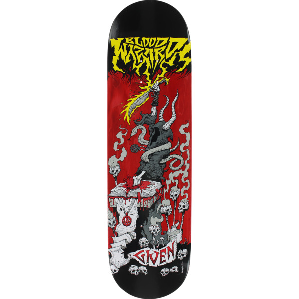 "Blood Wizard Skateboards Given Battle Red Stain Skateboard Deck - 8.5"" x 32.75"""