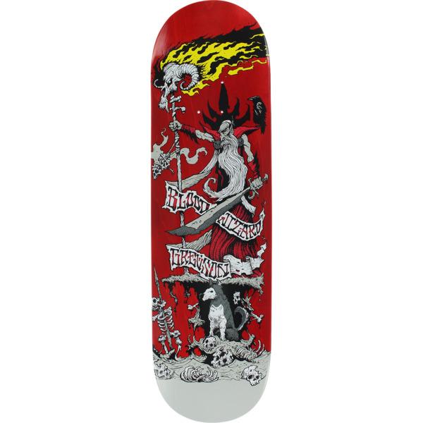 "Blood Wizard Skateboards Chris Gregson Battle Red Stain Skateboard Deck - 8.5"" x 32.75"""