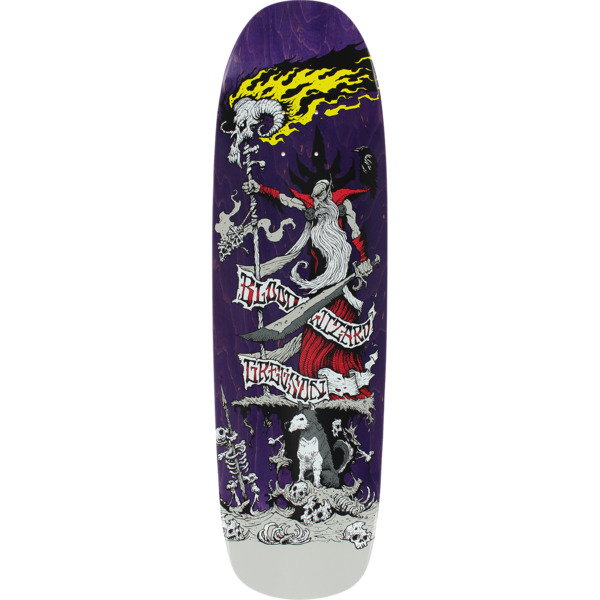 """Blood Wizard Skateboards Chris Gregson Battle Purple Stain Skateboard Deck - 8.8"""" x 32.12"""""""