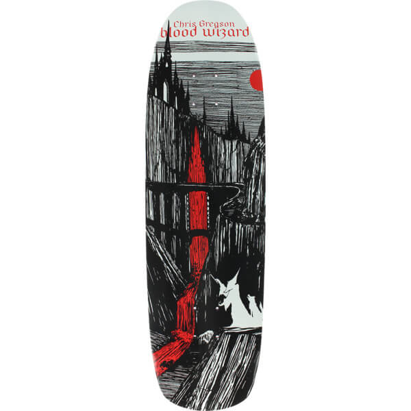 "Blood Wizard Skateboards Chris Gregson Castlebasas Skateboard Deck - 8.88"" x 32.12"""