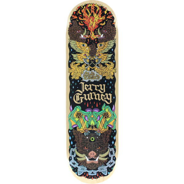 "Blood Wizard Skateboards Jerry Gurney Boar Skateboard Deck - 8.75"" x 32"""
