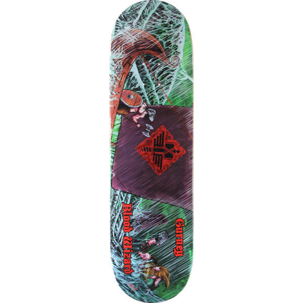"Blood Wizard Skateboards Jerry Gurney Warship Skateboard Deck - 8.75"" x 32"""