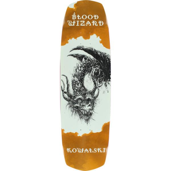 "Blood Wizard Skateboards Kevin Kowalski Occult Dragon Skateboard Deck - 9.1"" x 33"""