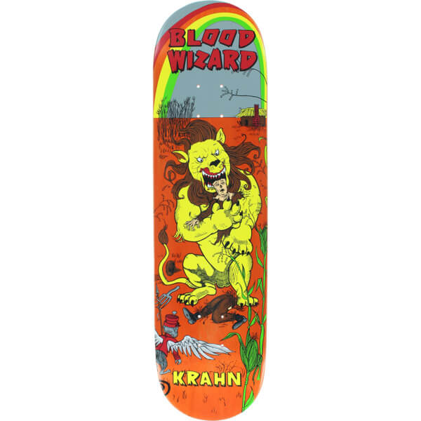 "Blood Wizard Skateboards Ben Krahn Lion Skateboard Deck - 8.12"" x 31.63"""
