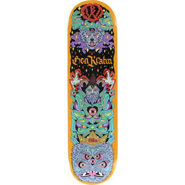 "Blood Wizard Skateboards Ben Krahn Wolf Skateboard Deck - 8.13"" x 31.75"""