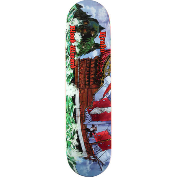 "Blood Wizard Skateboards Ben Krahn Warship Skateboard Deck - 8.12"" x 32"""