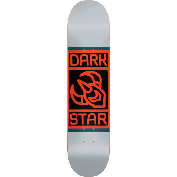 "Darkstar Skateboards Block Grey Skateboard Deck - 8"" x 31.6"""