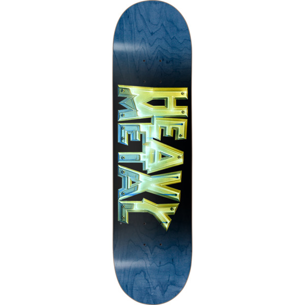 "Darkstar Skateboards Heavy Metal Chrome Blue / Gold Skateboard Deck - 8"" x 31.6"""