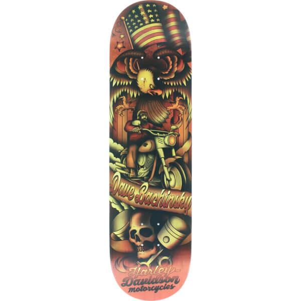 "Darkstar Skateboards Dave Bachinsky Tradition Harley Davidson Skateboard Deck - 8.25"" x 31.7"""