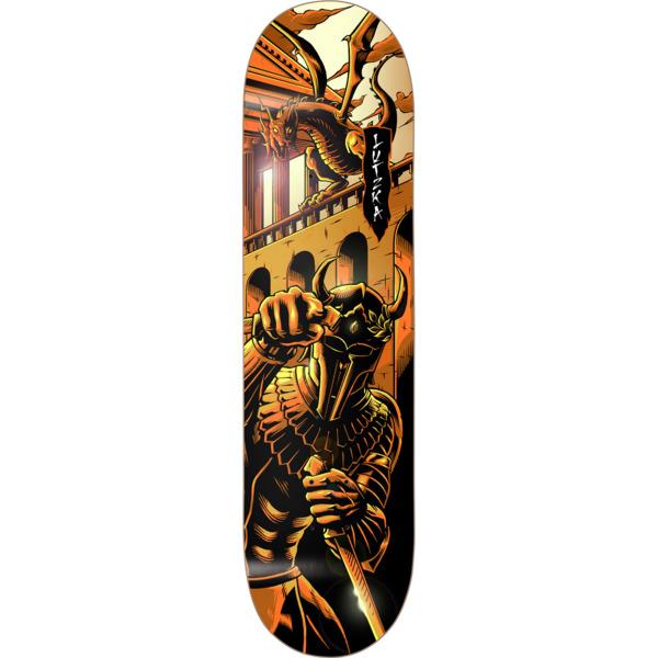"Darkstar Skateboards Greg Lutzka Inception Black / Orange Skateboard Deck Resin-7 - 8.25"" x 31.9"""