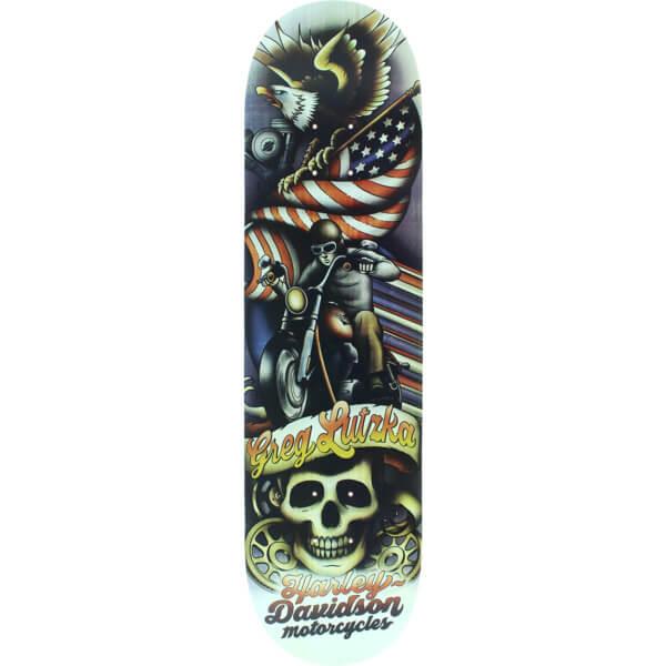 "Darkstar Skateboards Greg Lutzka Tradition Harley Davidson Skateboard Deck - 8.125"" x 31.8"""