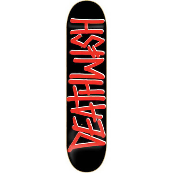 "Deathwish Skateboards Deathspray Black / Red Skateboard Deck - 8"" x 31.5"""