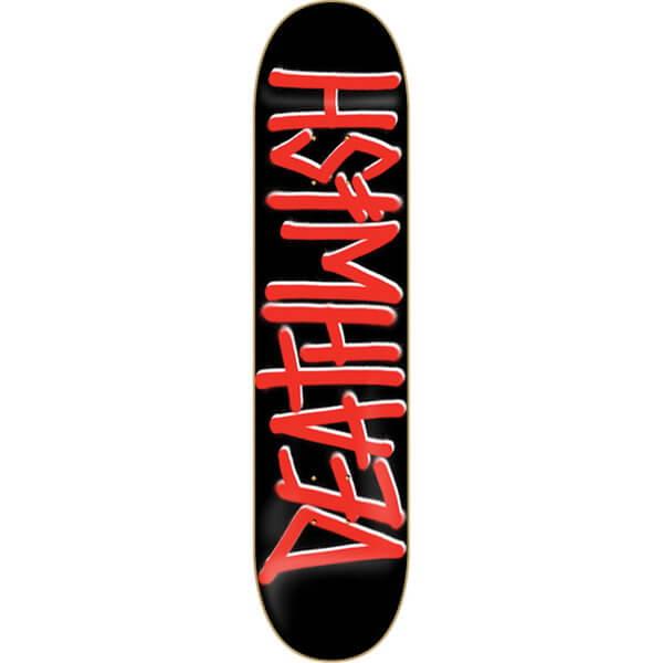"""Deathwish Skateboards Deathspray Black / Red Skateboard Deck - 8.47"""" x 31.875"""""""