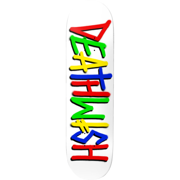 """Deathwish Skateboards Deathspray Multi White Skateboard Deck - 8"""" x 31.5"""""""
