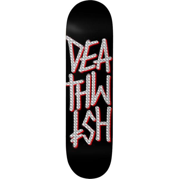 """Deathwish Skateboards Deathstack Black / Holographic Foil Skateboard Deck - 8"""" x 31.875"""""""