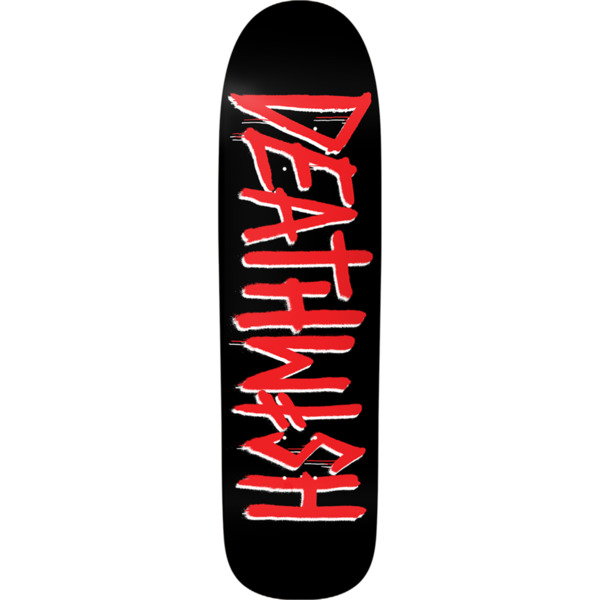 "Deathwish Skateboards Death Tag Black / Red Skateboard Deck - 8.62"" x 32"""