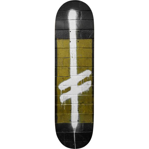 "Deathwish Skateboards Power Logo Black / Gold / White Skateboard Deck - 8.75"" x 32"""