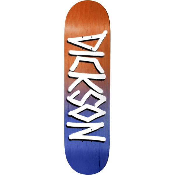 "Deathwish Skateboards Jon Dickson Gang Name Orange / Navy Skateboard Deck - 8.25"" x 31.5"""