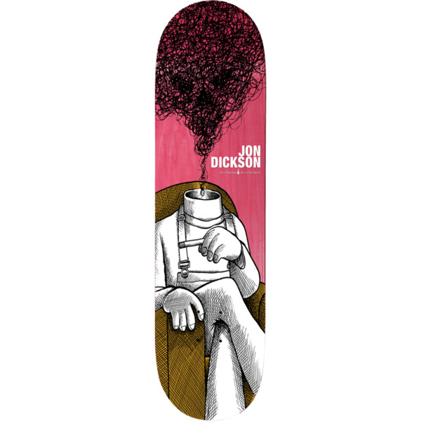 "Deathwish Skateboards Jon Dickson Smoke Eyes Skateboard Deck - 8"" x 31.5"""