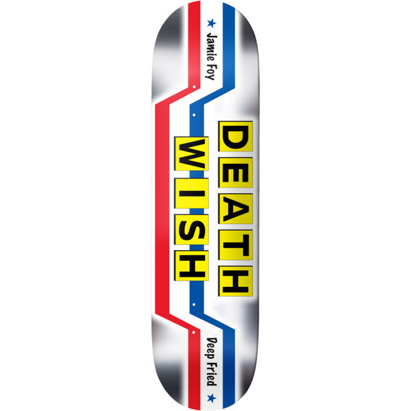 "Deathwish Skateboards Jamie Foy Good Food Fast Skateboard Deck - 8.5"" x 32"""