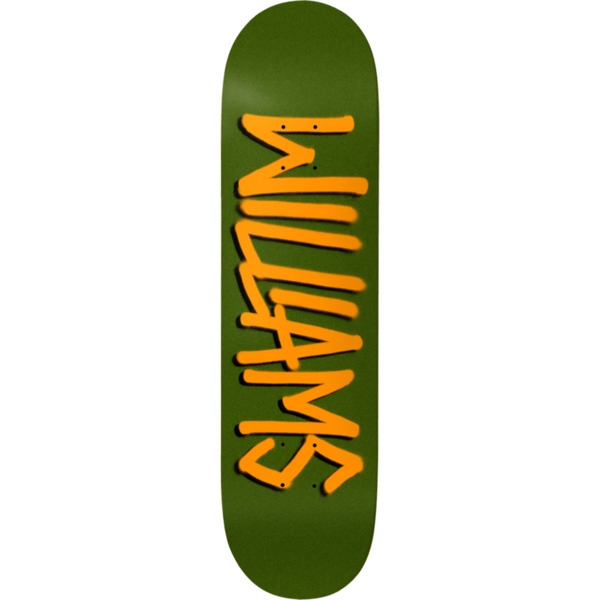 "Deathwish Skateboards Neen Williams Gang Name Green Pearl Skateboard Deck - 8.12"" x 31.5"""