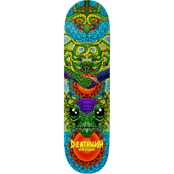 "Deathwish Skateboards Neen Williams Reptilian Heritage Skateboard Deck - 8.12"" x 31.5"""