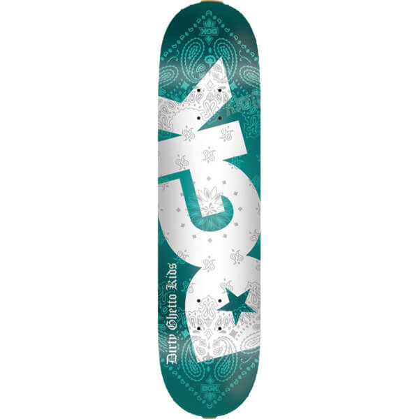 Dgk Skateboards Bandana Turquoise Skateboard Deck 8 06 X