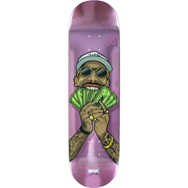 Dgk Skateboards Boo Johnson Money Man Skateboard Deck 8