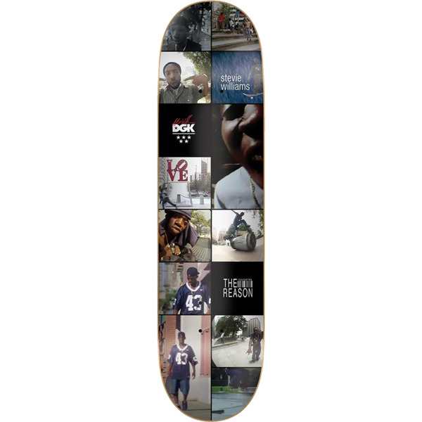 "DGK Skateboards Stevie Williams X TWS The Reason Skateboard Deck - 8.06"" x 32"""