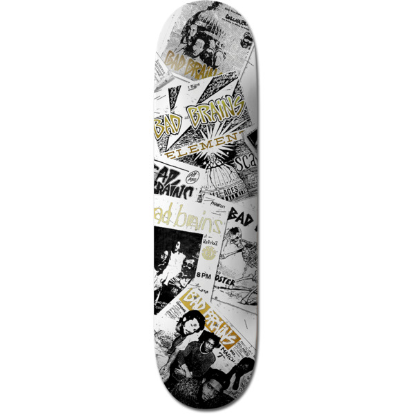 "Element Skateboards Bad Brains Flyers Skateboard Deck - 8.5"" x 32.7"""
