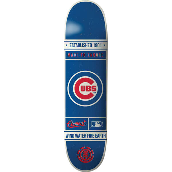 "Element Skateboards MLB Chicago Cubs Established Skateboard Deck - 8"" x 31.75"""