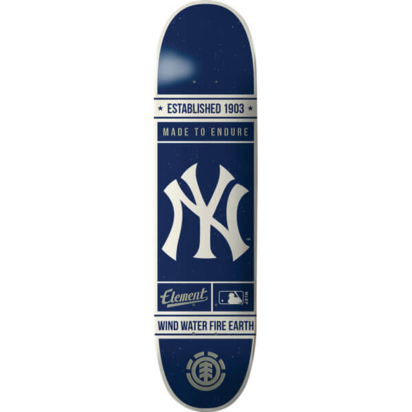 "Element Skateboards MLB New York Yankees Established Skateboard Deck - 8"" x 31.75"""