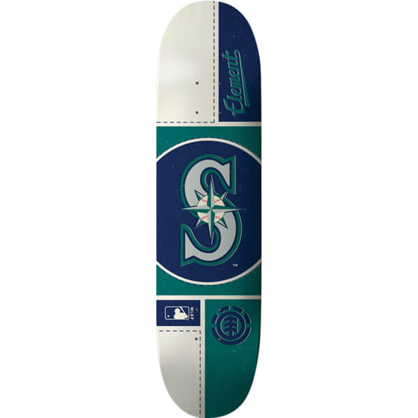 "Element Skateboards MLB Seattle Mariners Circle Skateboard Deck - 8"" x 31.75"""